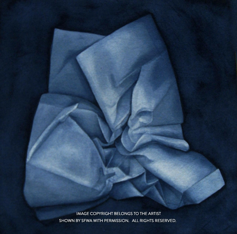 TheodoreBe_BlueFolds_Watercol_24x24
